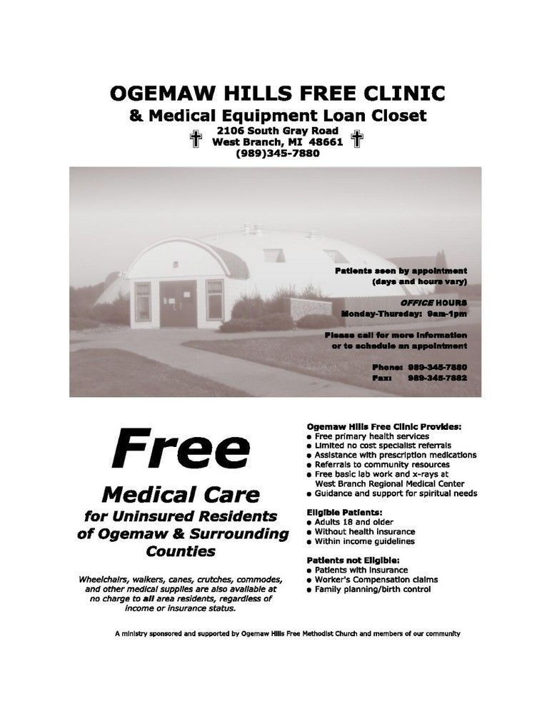 Ogemaw Hills Free Clinic South Gray Road